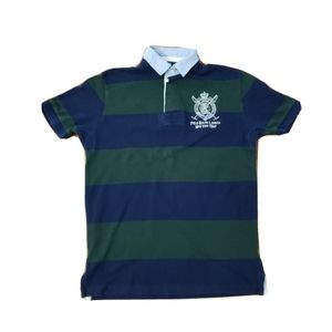 Polo Ralph Lauren New York Mens Striped Polo Size